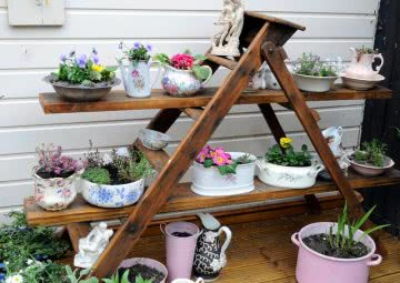 container gardening with different containers