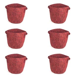 Geo-Faab Round Grow Bag - 12 in x 12 in (Dia. x Height)- Set of 6