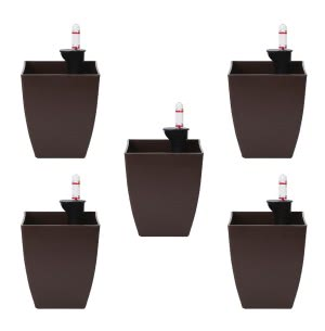 Chatura Brown Self Watering Planter - Set of 5