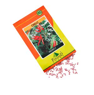 Hybrid Chilli Vegetable Seeds-Highfly - 10 g