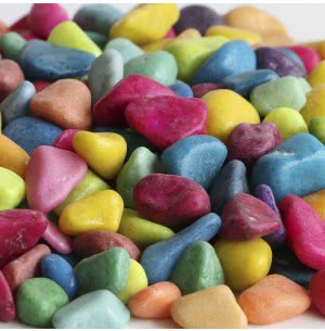 Pebbles Coloured - 1 kg