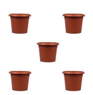 Gulmohar Plastic Pot Set of 5 - Diameter 10 Inch