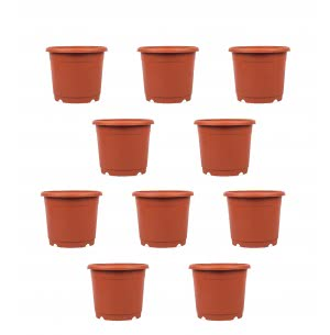 Marigold Plastic Pot Set of 10 - Diameter 9 Inch