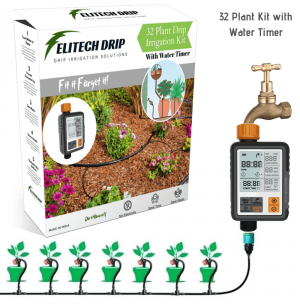32 Plant Drip Irrigation Kit with Automatic Water Timer