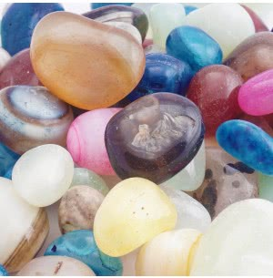 Onyx Mixed Colors Polished Pebbles- 1 Kg