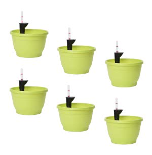 Tuka 25 Light Green Self Watering Planter With Accessories