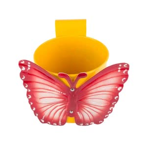Green Girgit Butterfly Pot (Yellow)
