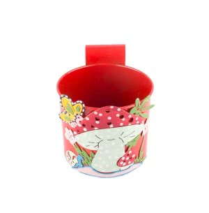 Green Girgit Mushroom Pot (Red)