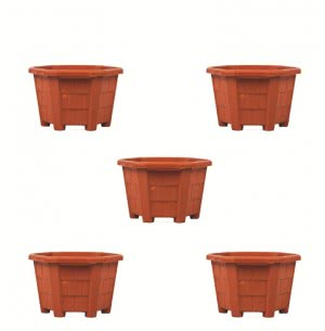 Aristo Hexa Plastic Planter No. 4 - Set of 5