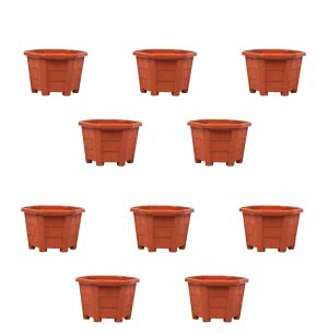 Aristo Hexa Plastic Planter No. 2 - Set of 10