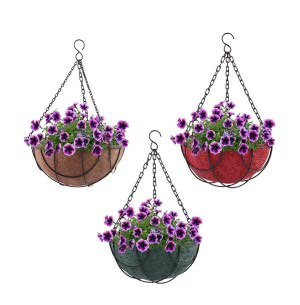 Hanging Coir Pot Multicolor 12 in. - Set of 3
