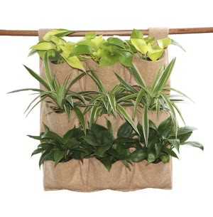 Hanging Jute Grow Bags 9 packet for vertical gardening