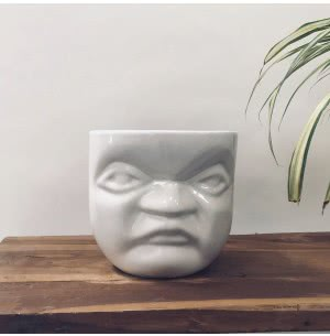 Unwavered Love - Kids Angry Face Ceramic Pot (7.9 Inch Width)