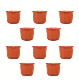 Milan Jasmine Plastic Planter No. 6 - Set of 10