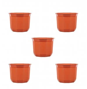 Milan Jasmine Plastic Planter No. 8 - Set of 5