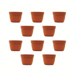 Milan Karishma Plastic Planter No.2 - Set of 10