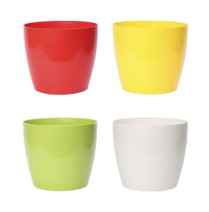 Ronda 23 Multicolour Plastic Planter - Set of 4