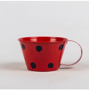 Green Girgit Polka Cups (Red)
