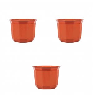 Milan Jasmine Plastic Planter No. 10 - Set of 3