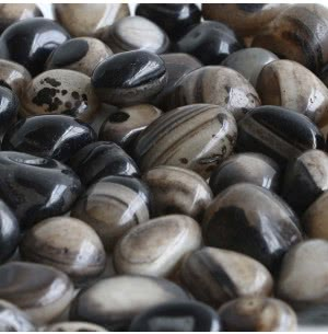 Onyx Coffee Brown Polished Pebbles- 1 Kg
