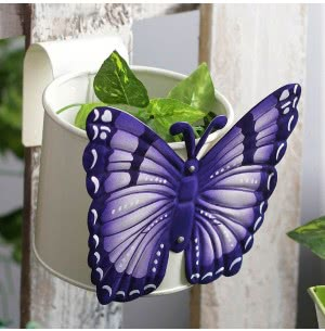 Green Girgit Butterfly Pot (White)