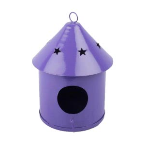Green Girgit Metallic Bird House - Round Small (Purple)