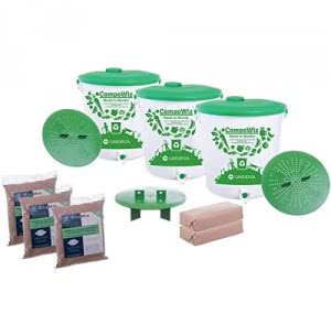 Compost Bin 14 L - Set of 3 (Family of 4 Members)