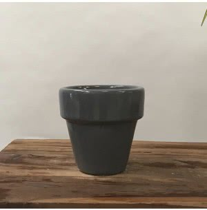 The Dream Gray Small Ceramic Pot