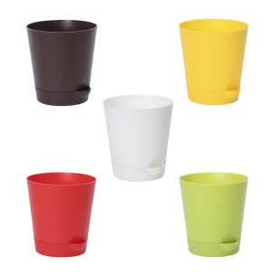 Ugaoo Krish Multicolour Self Watering Planter - Set of 5