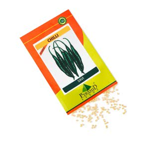 Hybrid Chilli Vegetable Seeds-Savi - 10 g