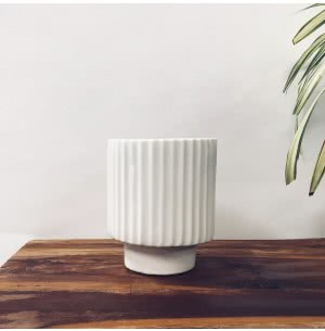 Dark Affinity White Small Ceramic Pot