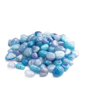Onyx Sea Blue Polished Pebbles- 1 Kg