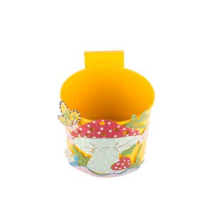 Green Girgit Mushroom Pot (Yellow)