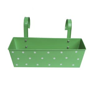 Green Girgit Rectangle Polka Dots Planter - Set of 3 - Green