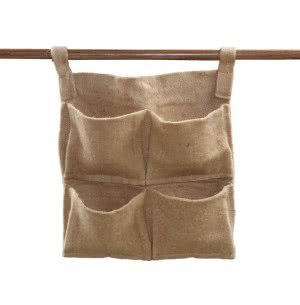 Hanging Jute Grow Bags 4 packet for vertical gardening