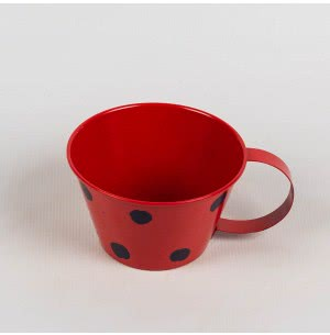 Metallic Polka Cups (Red)
