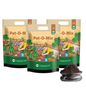 Gardenia Pot-O-Mix - 9 Kg Potting Soil (Set of 3 X 3 Kg)