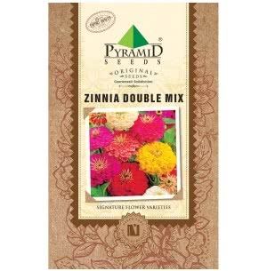 Zinnia Double Mix Flower (Retail) Seeds