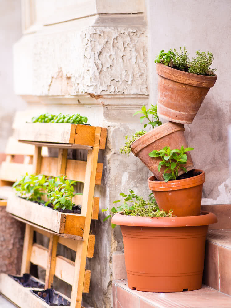 stacked pot planter