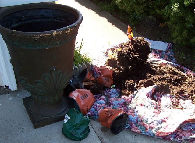 how to prepare large planters