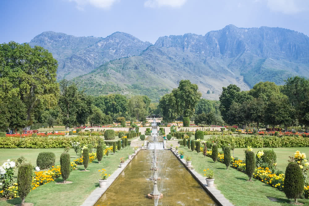 Nishat Bagh - terrace garden in india