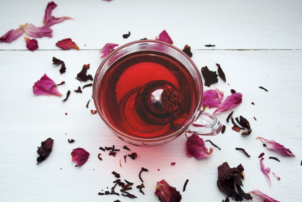 Red hibiscus tea to lower blood pressure