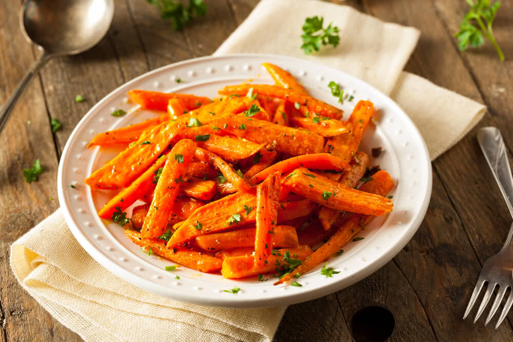 roasted carrots used for salad
