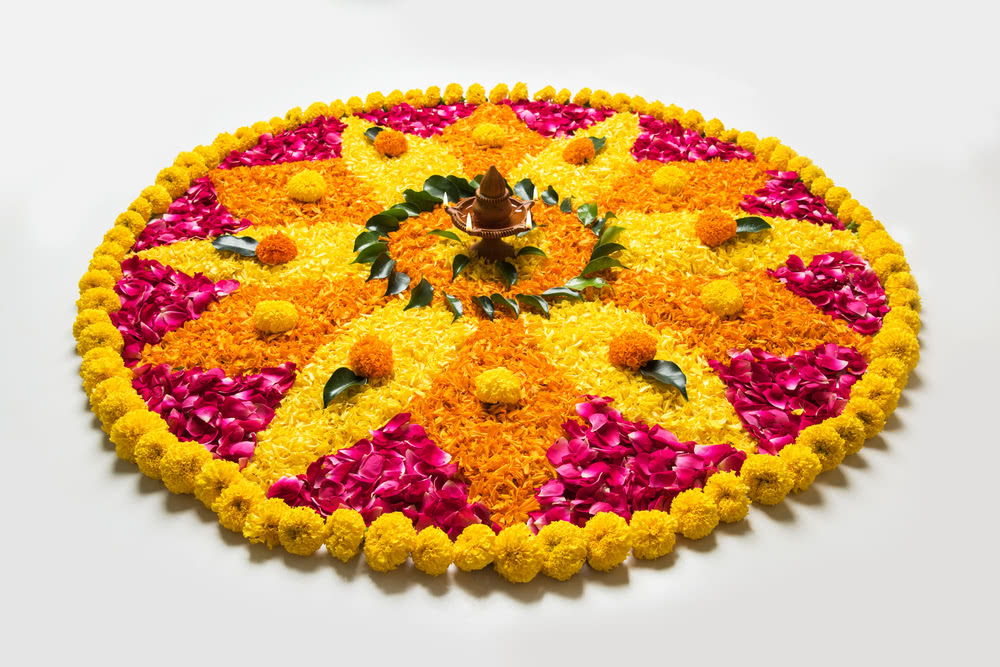 Colorful Floral Rangoli
