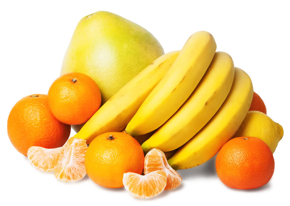 yellow and orange colored fruits and vegetables