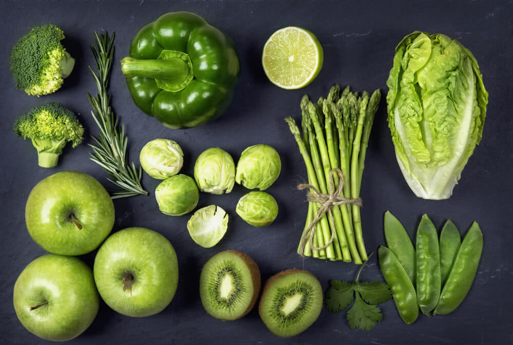 green colour fruits and vegetables