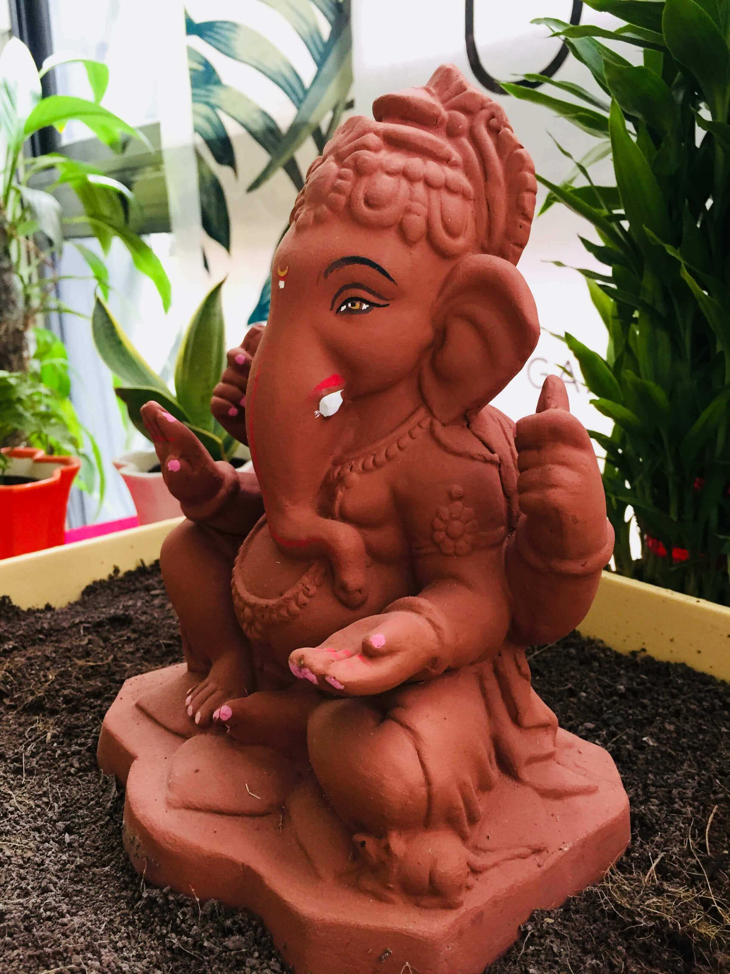 Eco-friendly Ganesh Idol